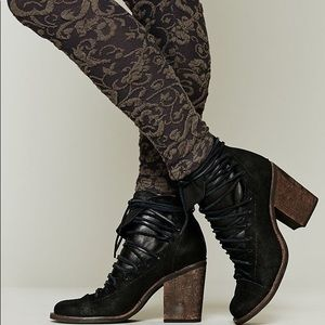 $298 Free People x Faryl Robin Lucas lace up boots